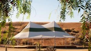 Pavilion Tent - yoga, workshops, weddings (Photo by Kat Woronowicz)