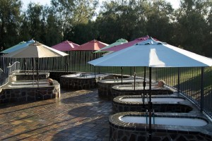 Therapeutic Hot Tubs - clothing required - water temperature is between 102-106 degrees (Photo by Jerzy Aust)